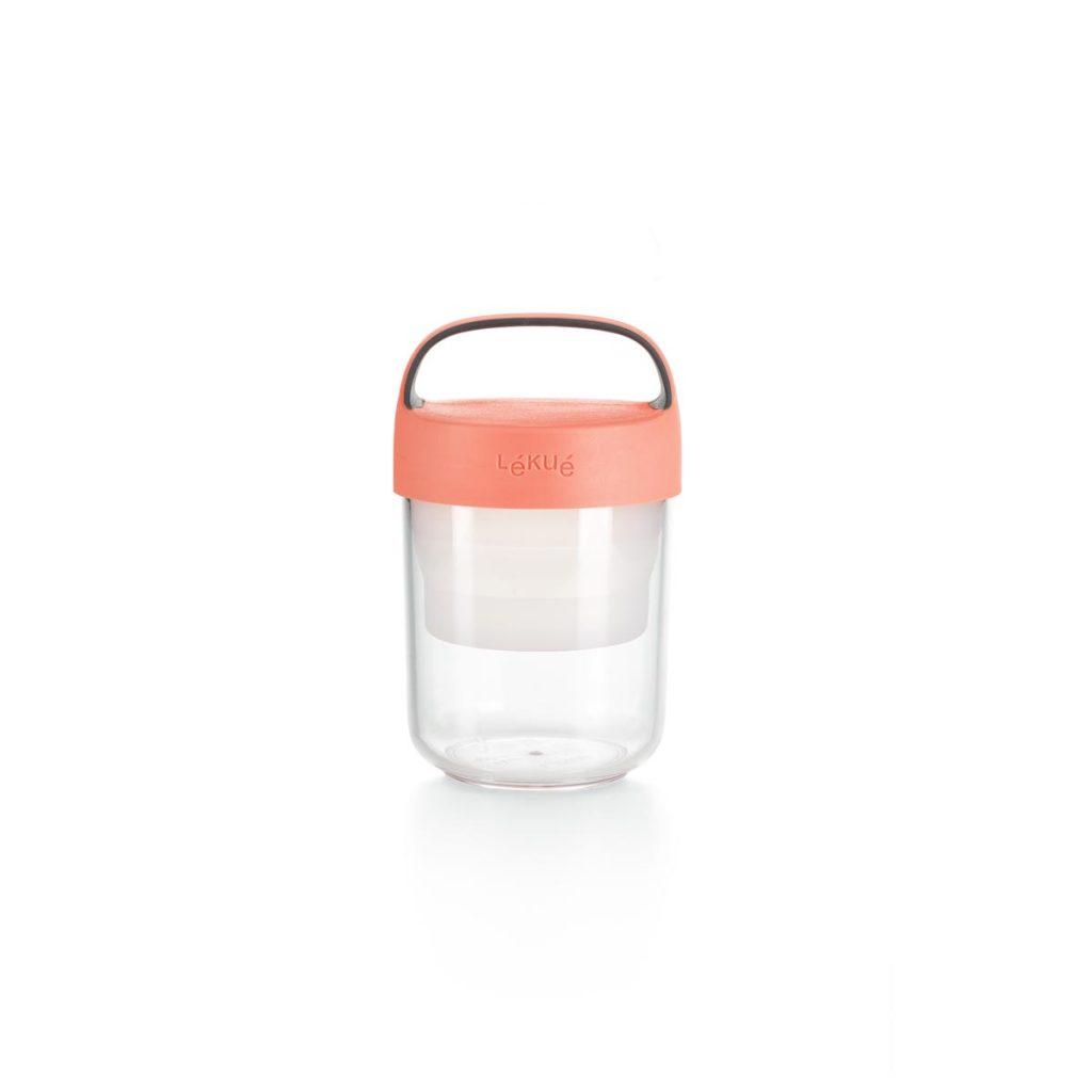 Pojemnik JAR TO GO różowy 400 ml