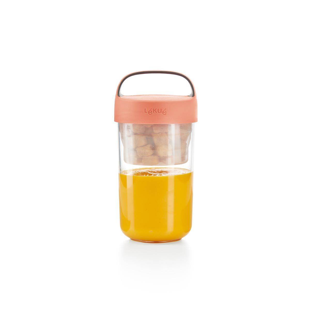 Pojemnik JAR TO GO różowy 600 ml
