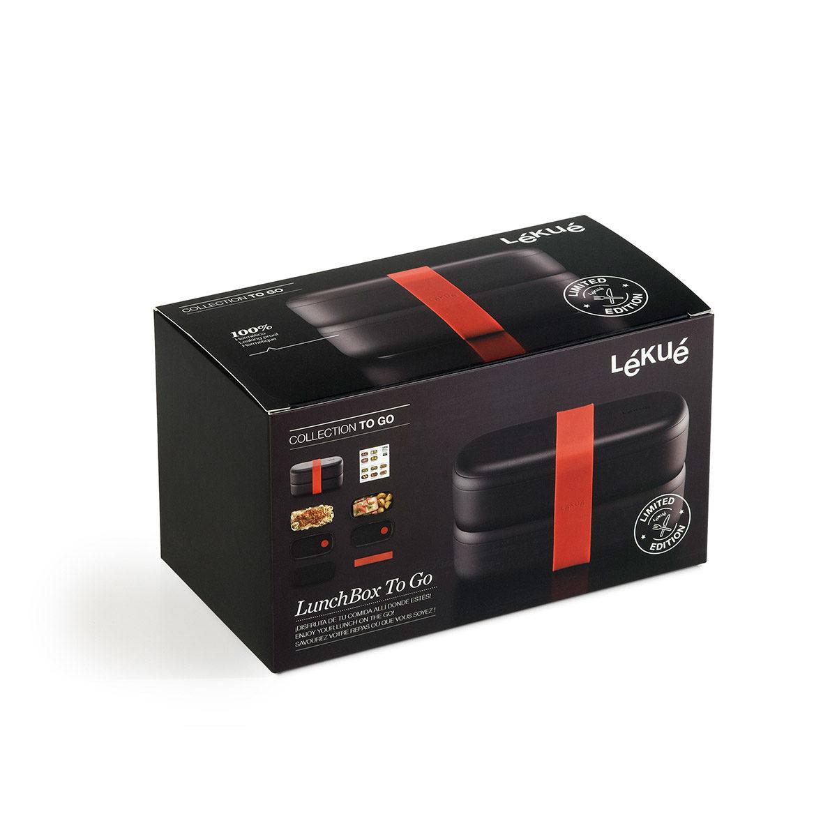 czarny lunchbox Lekue