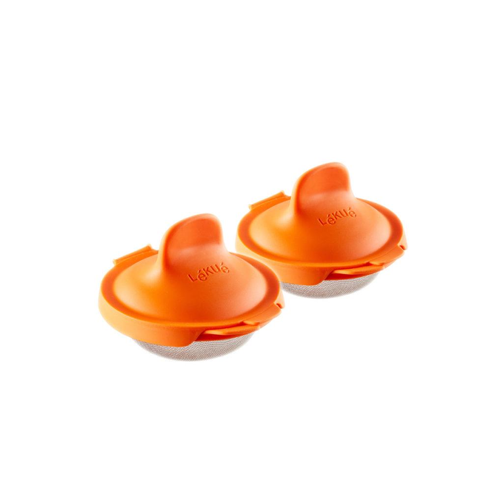 Foremki do jajek w koszulkach - 2szt. pomarańczowe