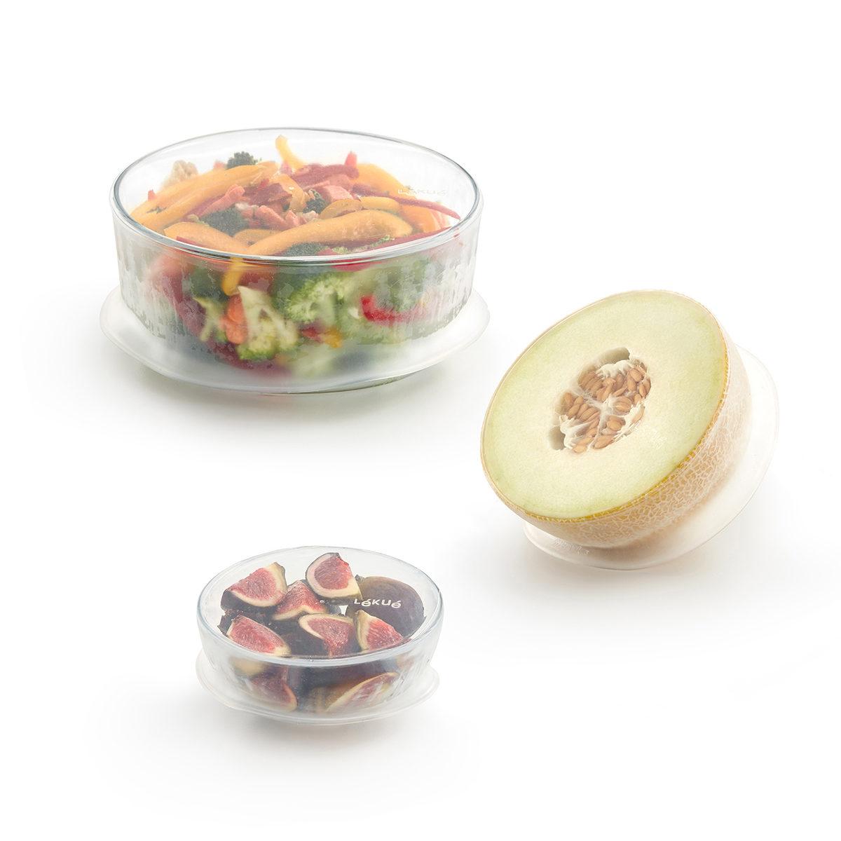 Osłonki wielorazowe do żywności - zestaw 3 szt.