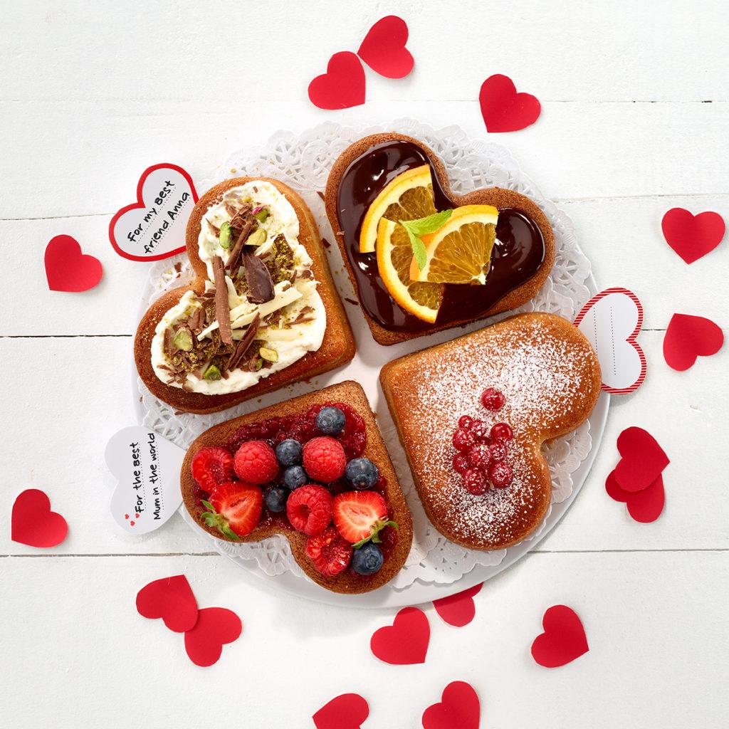 Forma do ciasta w porcjach - serca