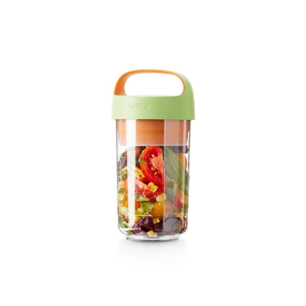 Pojemnik JAR TO GO limonkowy 600 ml